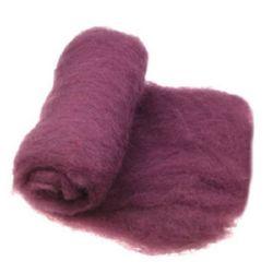 ВЪЛНА 100 процента Филц за нетъкан текстил 700x600 мм екстра качество рубин -50 грама