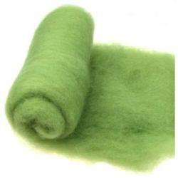 ВЪЛНА 100 процента Филц за нетъкан текстил 700x600 мм екстра качество зелена светла -50 грама