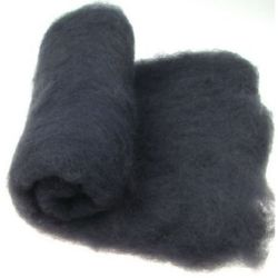 Wool felt merino for non-wovens, for making clothes, jewelry and accessories m 700x600 mm extra quality black -50 grams