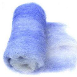 ВЪЛНА 100 процента Филц за нетъкан текстил 700x600 мм екстра качество меланж лилаво,бяло -50 грама