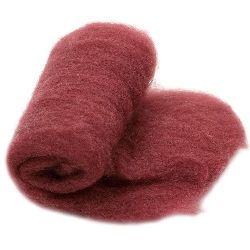 ВЪЛНА 100 процента Филц за нетъкан текстил 700x600 мм екстра качество бордо -50 грама
