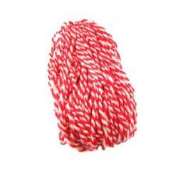 Пресукано мартеница 100 процента вълна 2x2ката дебелина -100 грама