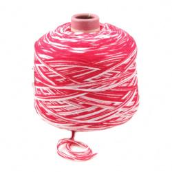 Прежда 32/2 бяла червена 10 ката -500 грама
