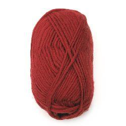 Прежда Амалиа 100 процента вълна тъмно червена -100 грама