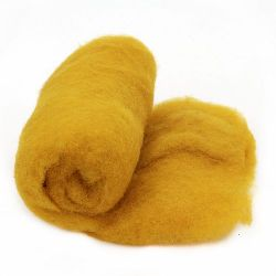 ВЪЛНА 100 процента Филц 700x600 мм жълта -50 грама