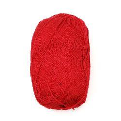 Прежда Софт бебе бамбук и коприна 1 мм червена тъмна -50 грама