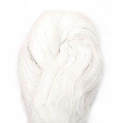 Прежда памук немерсеризиран Зора бяла 100 грама -1000 метра