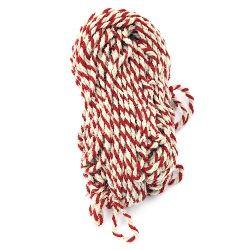 Прежда вълна три ката бяло ,червено -100 грама