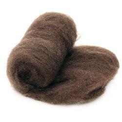 ВЪЛНА 100 процента Филц за нетъкан текстил 700x600 мм екстра качество кафява светла -50 грама