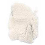 Естествена кожа вълна за декорация бяла - 25 грама