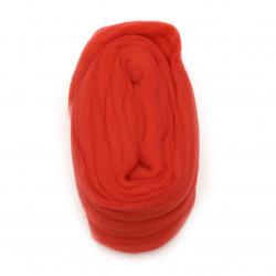 Lână de pâslă 100% roșu MERINO 2,40 metri-50 grame