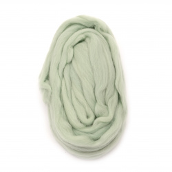 Филц вълна 100 процента МЕРИНО бледо зелено 2.40 метра-50 грама