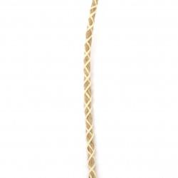 Шнур плосък 5 мм канап 1 кат вискоза цвят бял -3 метра