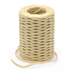 Прежда РАФИЯ цвят слама 100 % дървесен пулп -100 метра -100 грама