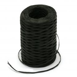 Прежда РАФИЯ цвят черен 100 % дървесен пулп -100 метра -100 грама