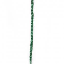 Прежда СИРМА 90 процента ламе 10 процента полиамид -зелено 50 грама - 120 метра