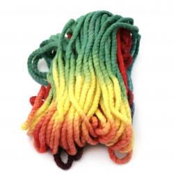 Прежда БАЛКАН цвят многоцветен 50 % вълна 50 % акрил -65 метра -200 грама