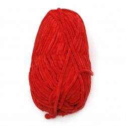 Прежда ДОЛЧЕ цвят червен 100 % микрополиестер -120 метра -100 грама