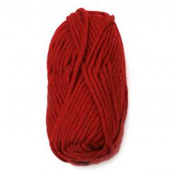 Прежда СУПЕРЛАНА МЕГАФИЛ цвят червен 25 % вълна 75 % акрил -55 метра -100 грама