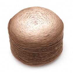 Прежда БЕЛЛА омбре батик цвят кафяв меланж 100 % памук -900 метра -250 грама