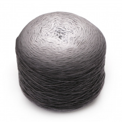 Прежда БЕЛЛА омбре батик цвят сив меланж 100 % памук -900 метра -250 грама