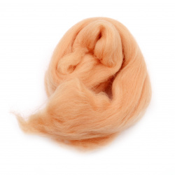 Φελτ μαλλί 100% MERINO ροδακινί -8 ~ 10 γραμμάρια