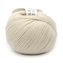 Прежда SIMPLY WOOL 100 % мерино суперуош цвят бял 50 грама -110 метра