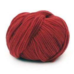 Прежда SIMPLY WOOL 100 % мерино суперуош цвят червен меланж 50 грама -110 метра