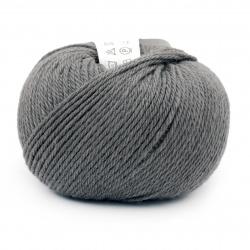 Прежда SIMPLY WOOL 100 % мерино суперуош цвят сив 50 грама -110 метра
