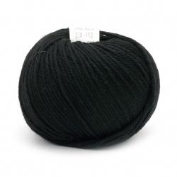 Прежда SIMPLY WOOL 100 % мерино суперуош цвят черен 50 грама -110 метра