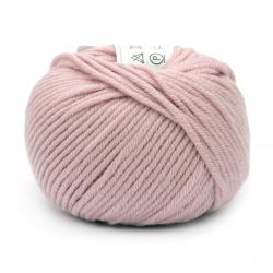 Прежда MERINO PASSION 100 % мерино вълна суперуош цвят розов 50 грама -55 метра