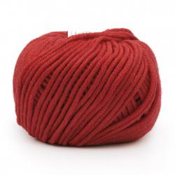 Прежда MERINO PASSION 100 % мерино вълна суперуош цвят червен 50 грама -55 метра
