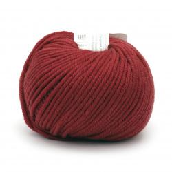 Yarn MERINO PASSION 100% merino wool superwash color dark red 50 grams -55 meters