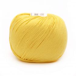 Прежда COTTON XTRA 100 % памук газиран, мерсеризиран цвят жълт 50 грама -150 метра