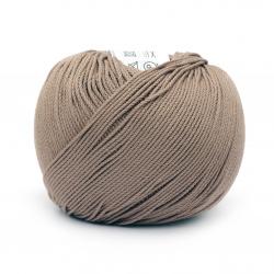 Прежда COTTON XTRA 100 % памук газиран, мерсеризиран цвят капучино 50 грама -150 метра