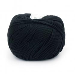 Прежда COTTON XTRA 100 % памук газиран, мерсеризиран цвят черен 50 грама -150 метра