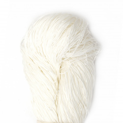 Тире 34/6 памук 100 % мерсеризиран, газиран, пениран цвят бял 100 грама -560 метра