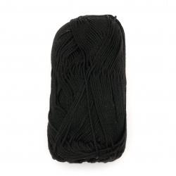 Прежда COTTON QUEEN 100 % натурален памук цвят черен 50 грама -125 метра