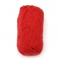 Прежда COTTON PASSION 100 % памук цвят червен 50 грама -85 метра
