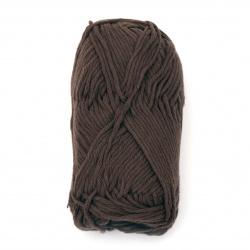 Прежда COTTON PASSION 100 % памук цвят кафяв 50 грама -85 метра
