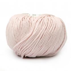 Прежда COTTON GEM 100 % памук газиран, мерсеризиран цвят бледо розов 50 грама -95 метра