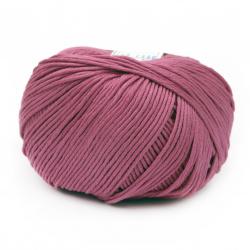 Прежда COTTON GEM 100 % памук газиран, мерсеризиран цвят циклама 50 грама -95 метра