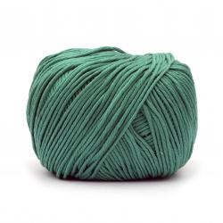 Прежда COTTON GEM 100 % памук газиран, мерсеризиран цвят зелен 50 грама -95 метра