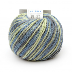 Прежда COTTON SPARKLE 85 % памук 15 % вискоза цвят резеда, син меланж 50 грама -75 метра