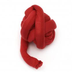 Прежда Маршмелоу 35% памук 65% полиамид, пълнеж 100% полиестерни влакна цвят червен -25 метра ~ 500 грама