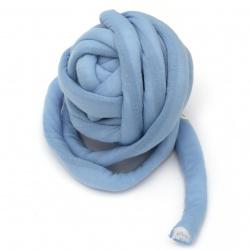 Прежда Маршмелоу 35% памук 65% полиамид, пълнеж 100% полиестерни влакна цвят син -25 метра ~ 500 грама