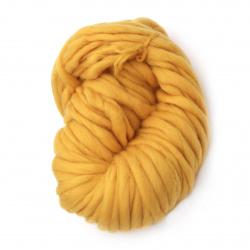 Прежда акрил 15 мм дебелина цвят жълт -240 грама  -50 метра