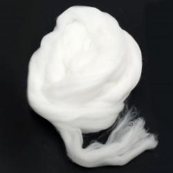 Прежда 100 % акрилна лента цвят бял -50 грама ~2,9 метра
