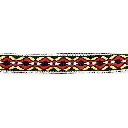 Banda 20 mm negru cu alb, roșu și galben -5 metri
