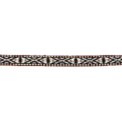 Banda 10 mm negru cu alb roșu verde și maro -5 metri